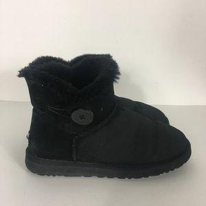 UGG Black Mini Bailey Button Boots